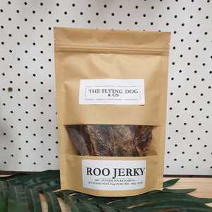 Roo Jerky -  100g - The Flying Dog n Co gerringong australia pet boutique collective smallbusiness ladystartups