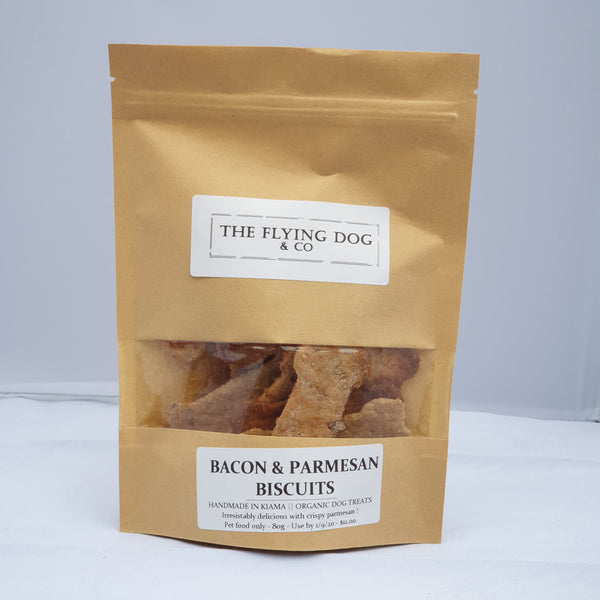 Bacon and Crispy Parmesan Biscuits - The Flying Dog n Co gerringong australia pet boutique collective smallbusiness ladystartups