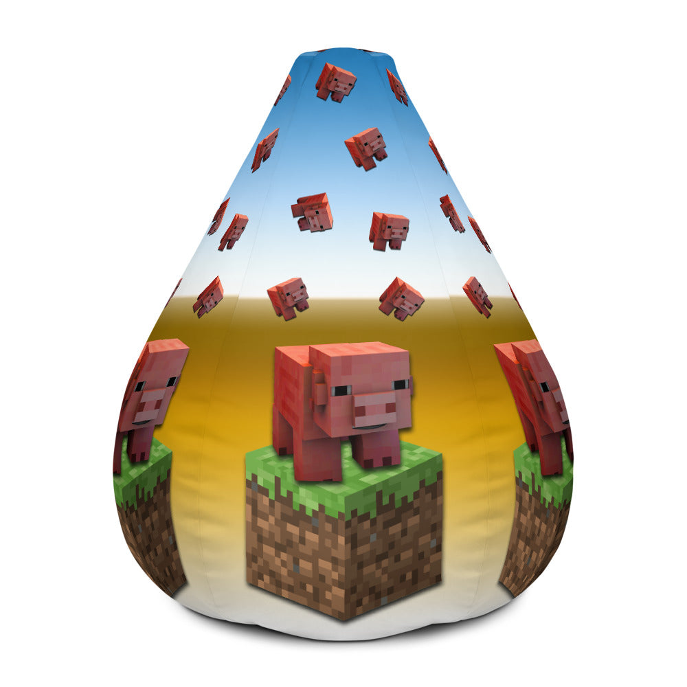 Marvelous Minecraft Piggy Bean Bag Chair W Filling Photastic Ocoug Best Dining Table And Chair Ideas Images Ocougorg