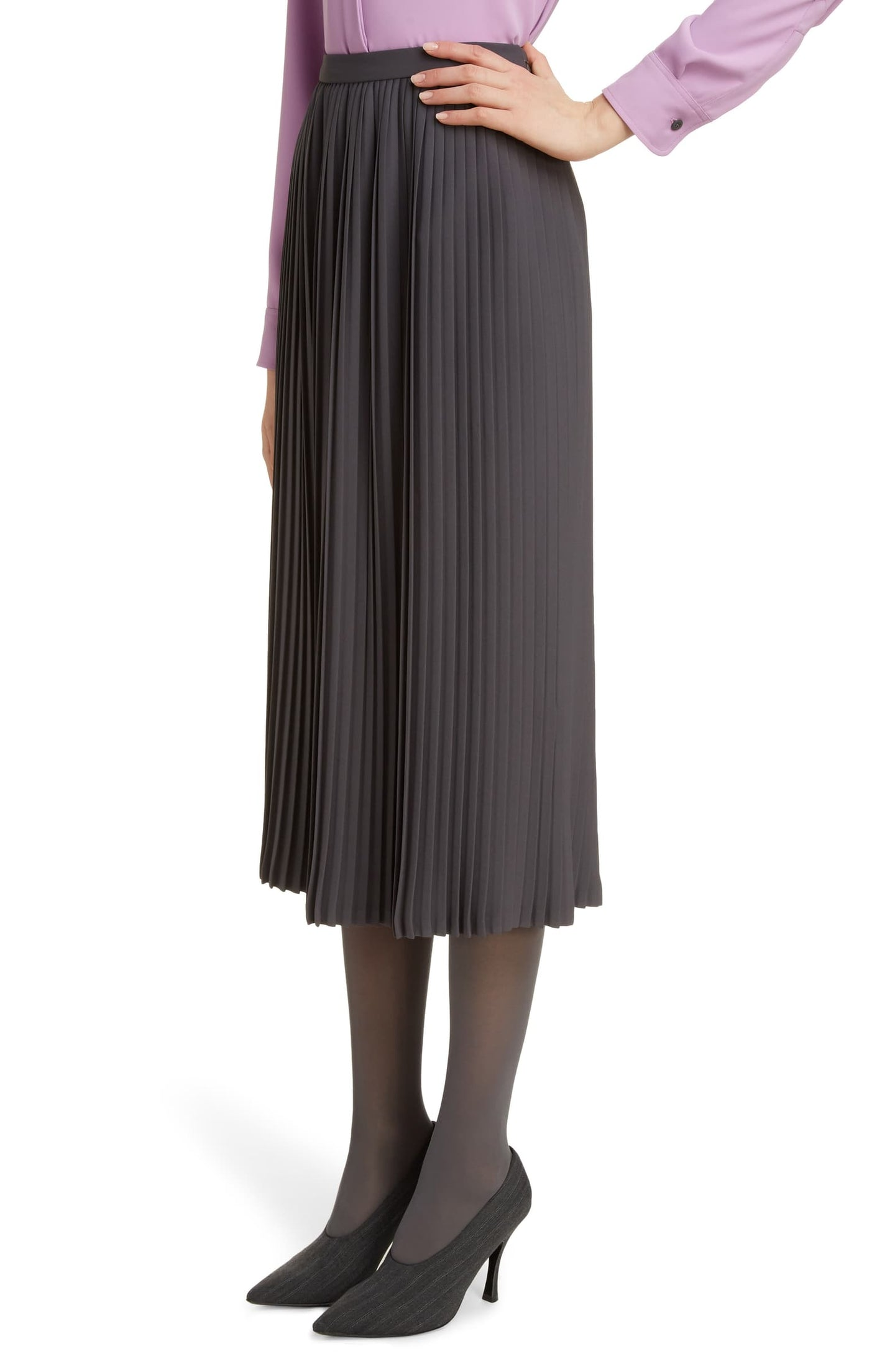 Dries Van Noten Siram Pleated Midi Skirt