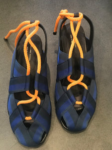 Dries Van Blue&Black strap canvas  sandals .