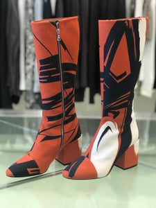 Dries Van Noten  Knee High Canvas Boots