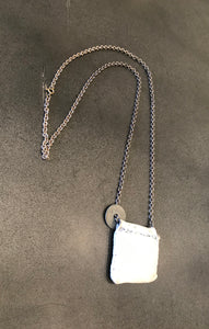 J_S_Productions  Leather/Silver Pendant