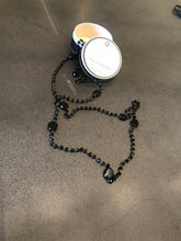 Load image into Gallery viewer, J_S_Productions  long black beaded necklace