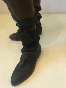 Uma wang  black ankle tie boot