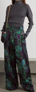 Dries Van Noten  New Season Floral-print woven wide-leg pants