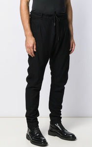 Masnada Men Black Slim Fit Track Pants