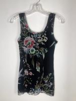 Load image into Gallery viewer, Fuzzi Black Floral Print Tank Top