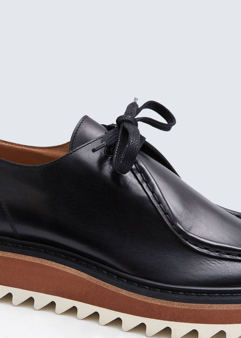 Dries Van Noten Black Platform Loafer