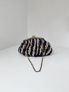 Amano by Lorena Laing Linen Crochet Purse
