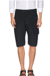 MASNADA Men's Black Bermuda