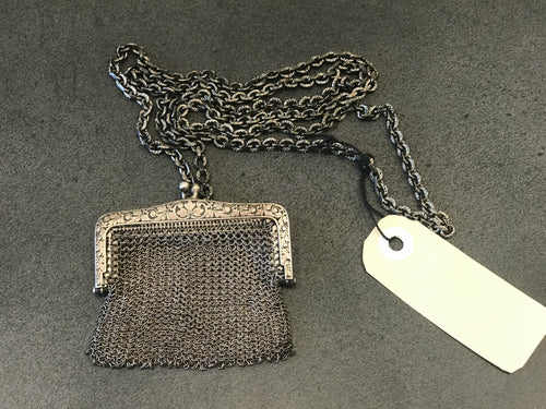 J_S_Productions Mid 19th Century Silver Mail Purse