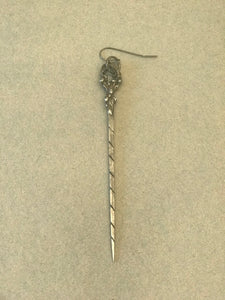 J-S-Productions 19th C Silver Hair Pin Earring