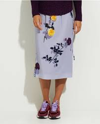 Dries Van Noten  rayon skirt in flower print