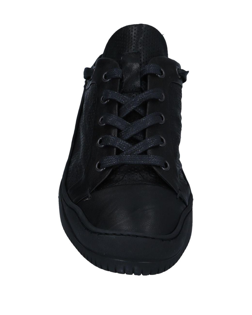 Masnada open back black sneakers