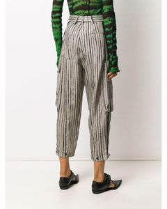 Masnada tapered stripe trousers