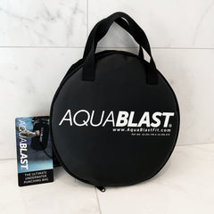 AquaBLAST fits in a convenient carry case, so you can take it to the gym, travelling, or on vacation.
