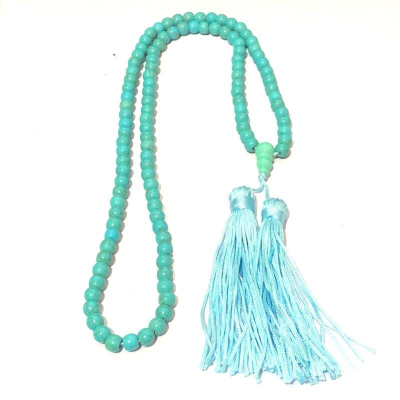 Fancy Healing Monk Tassel  Bless Veins chain Necklace