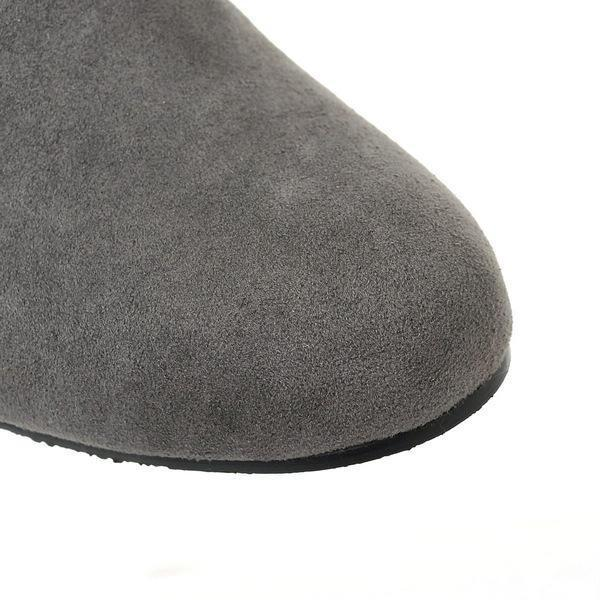 Thick fur snow boots flat Boots over-knee
