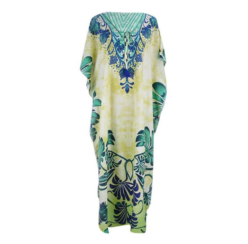 Loose Floral Printed Summer Beach Vacation Cover-up