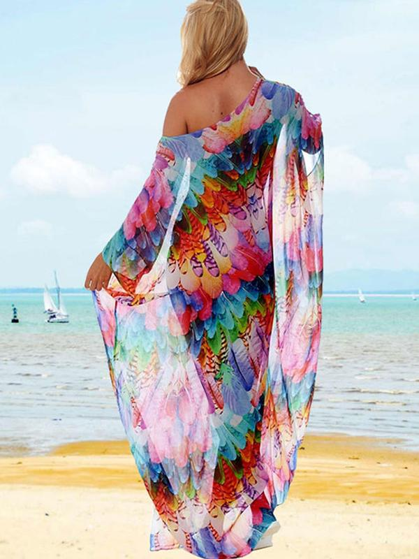 Bohemian Chiffon Vacation Beach Resort Bikini Cover Up
