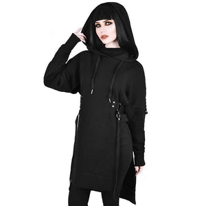 Halloween Long Sleeves Plain Oversized Hoodies Pullover