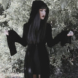 Halloween Costume Punk Long Velvet Hooded Colak Cape