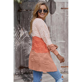 Casual Colorful Cardigan Streetwear Knitting Sweater