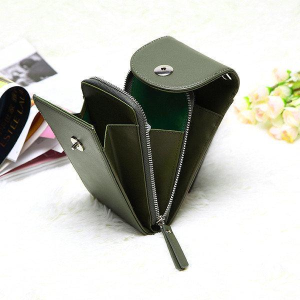Vintage PU Leather Universal Shoulder Phone Bag For iPhone Samsung Huawei Xiaomi