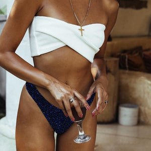 3 Colors Split Swimsuit Flashing Irregular Bikini Sexy Stitching