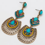 Bohemian New Vintage Turquoise Earrings