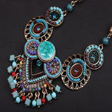 Vintage Bohemian Handmade Beaded Multilayers Necklace Accessories