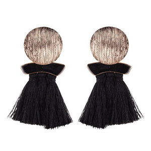 High quality vintage handmade tassel pendant long stud earring for women ear party jewelry - Voguetide