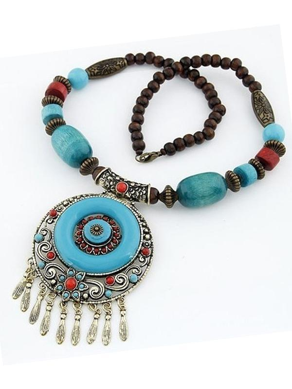 Bohemian Ethnic Style Hand-Woven Colorful Jewel Necklace - Voguetide