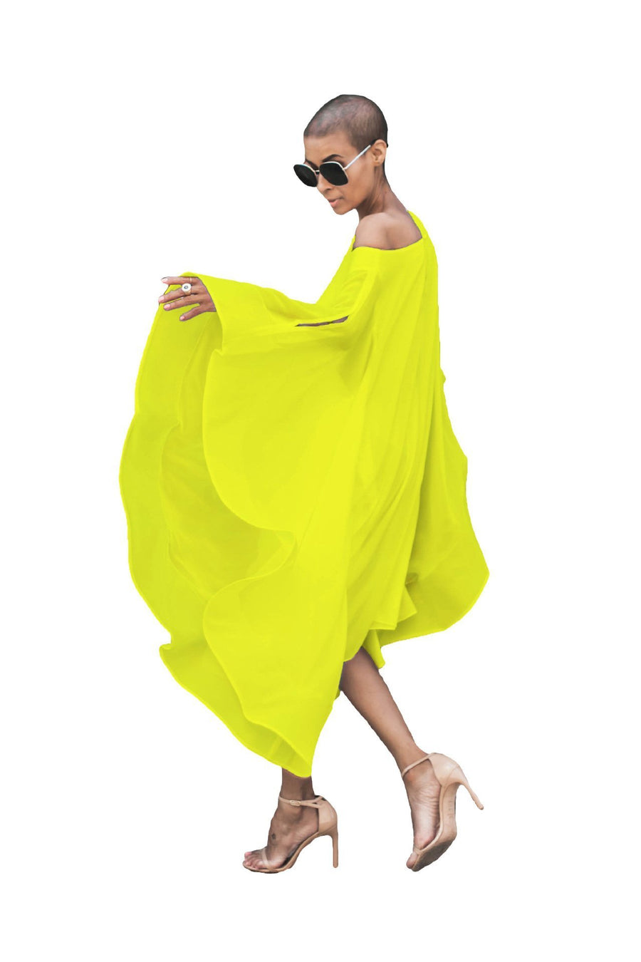 Summer Solid Color Chiffon Beach Dress