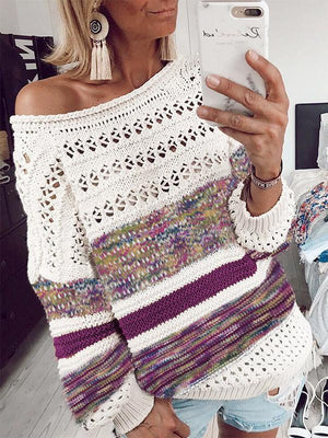 Loose Casual Openwork Autumn Winter Sweater