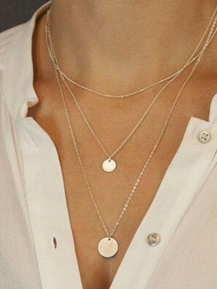 2019 Fashion Simple Mmulti-Layer Necklace Jewelry - Voguetide