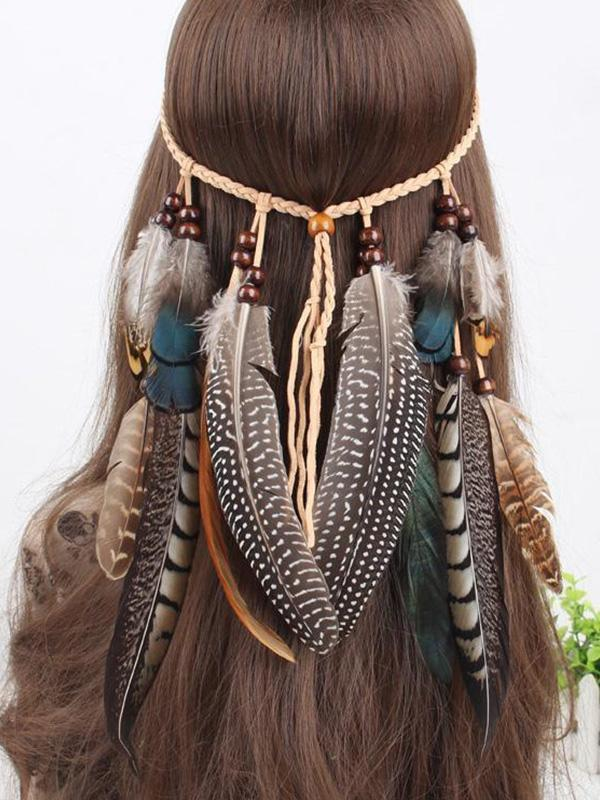Boho Peacock Feathers Headwear Accessories - Voguetide