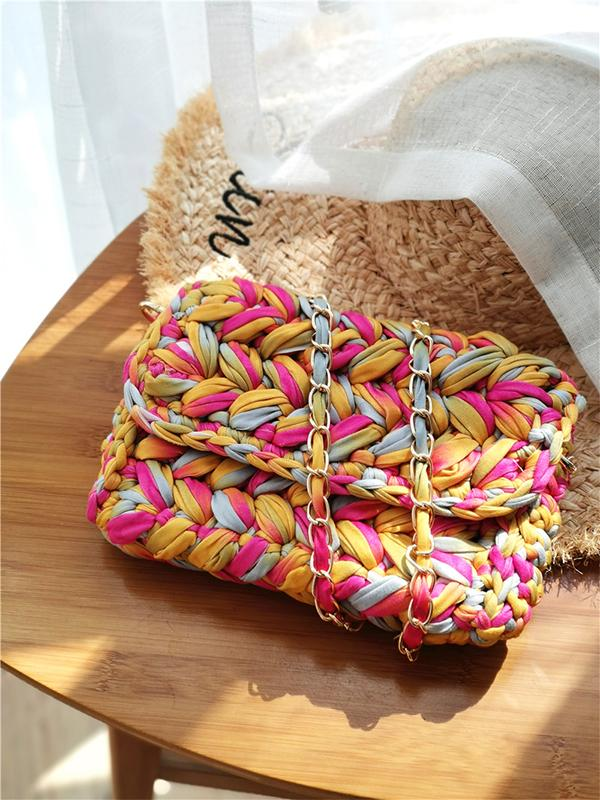 Handmade Knitted Crossbody Colorful Shoulder Bags