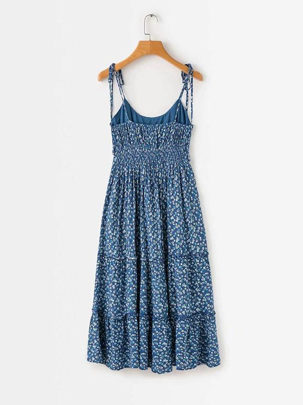 Vacation Loose Spaghetti-neck Maxi Dress
