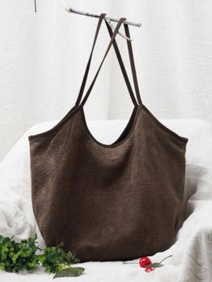 3 Colors Simple Literature Shoulder Bag - Voguetide