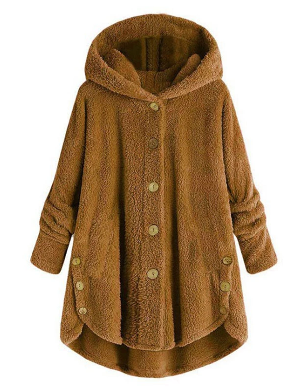 Loose Plus Size Solid Long Sleeve Open Front Hooded Casual Thin Coat