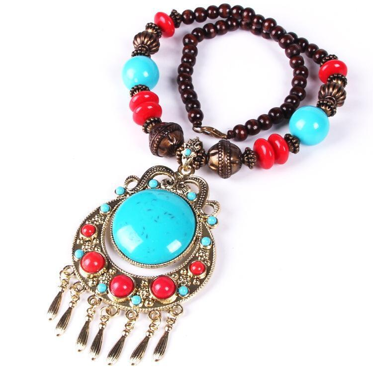 New Bohemian Hand-Woven Woven Rice Beads Necklace