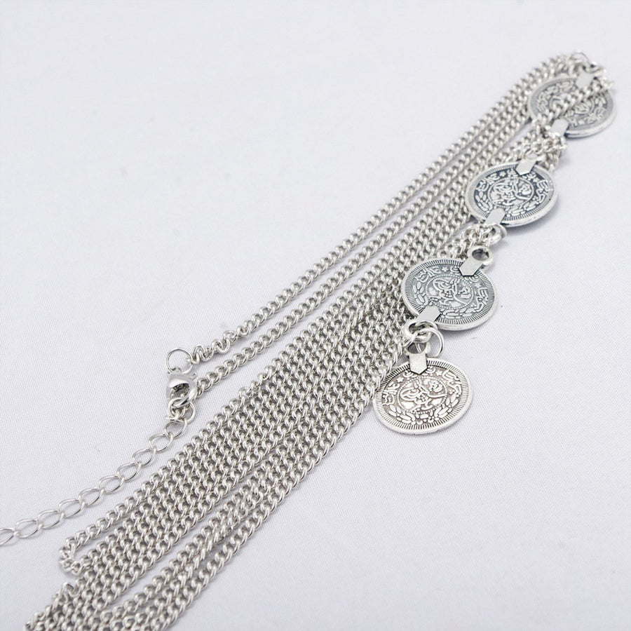 Bohemian Retro Multilayer Coin Arm Chain Jewelry