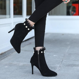 Women Autumn Suede Pointed Stiletto Boots