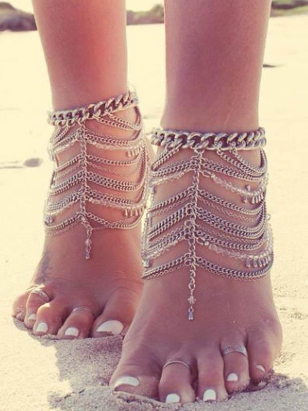 Fashion Bohemia Tassels Footchain Accessories Anklet - Voguetide