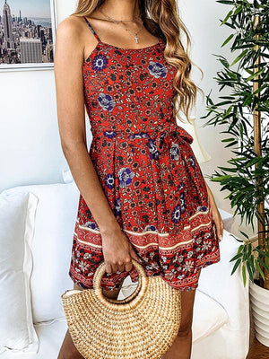 Hippie Boho  Strap Backless SummeBeach Jumpsuit Rompers