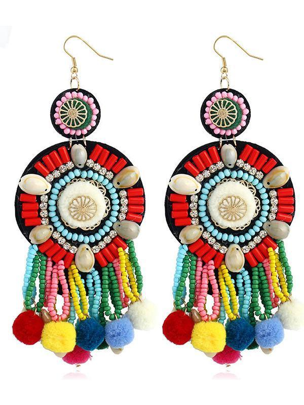 Boho E-Plating Technic Alloy Shell Earrings - Voguetide