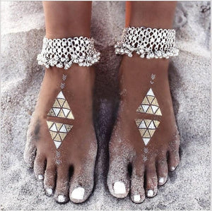 Exaggerated wild style small bells tassels women s foot accessories - Voguetide