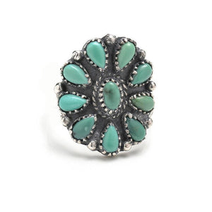 Gypsy Bohemian Wide Edition Retro Carved Truffle Cactus Sun Moon Geometry Ring - Voguetide